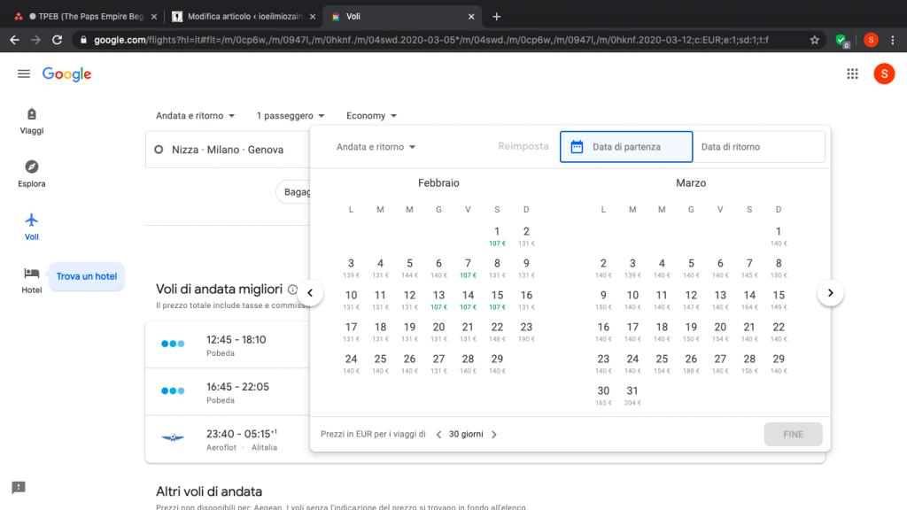 Google Flight | tutti i trucchi